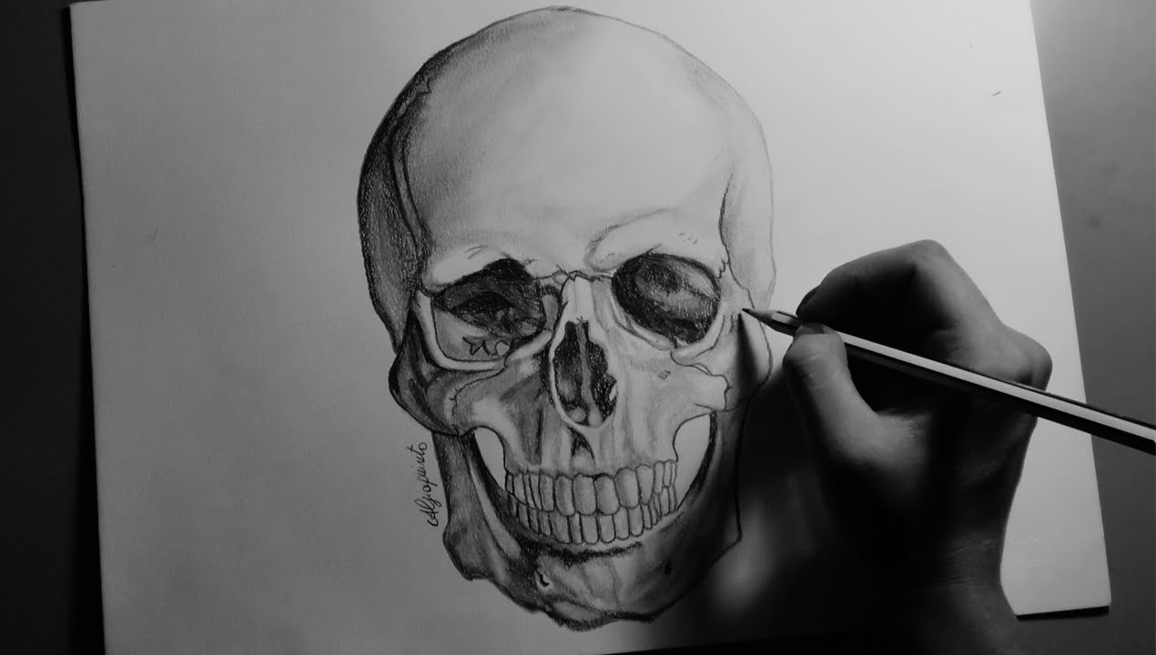 how to draw a skull youtube