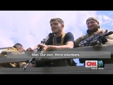 Ukraine War - Kadyrov armed mercenaries interviewed by CNN journalist in Donetsk Ukraine