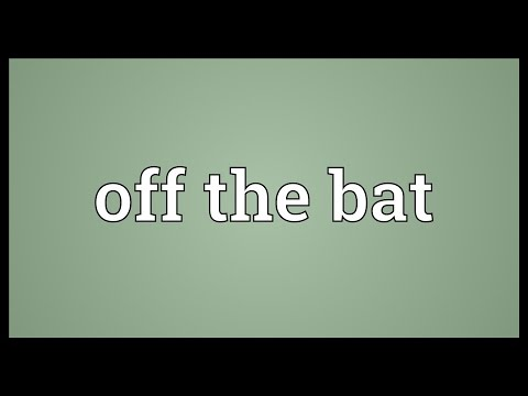 Off The Bat Meaning
