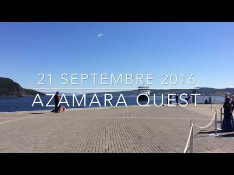 Azamara Quest horn salutation, Saguenay's port of call, 2016 september 21st