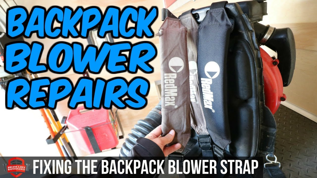 Fixing My Backpack Er Shoulder Strap Repair Redmax 7500