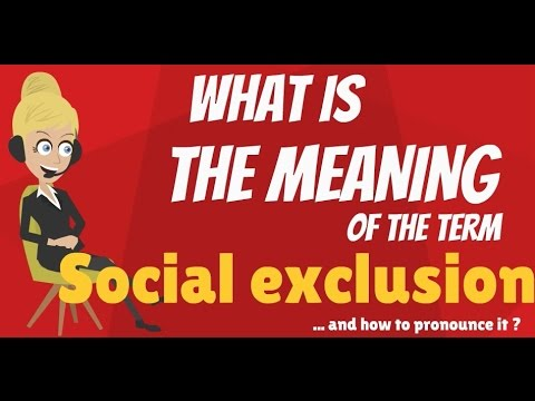 What is SOCIAL EXCLUSION? SOCIAL EXCLUSION meaning - SOCIAL EXCLUSION definition