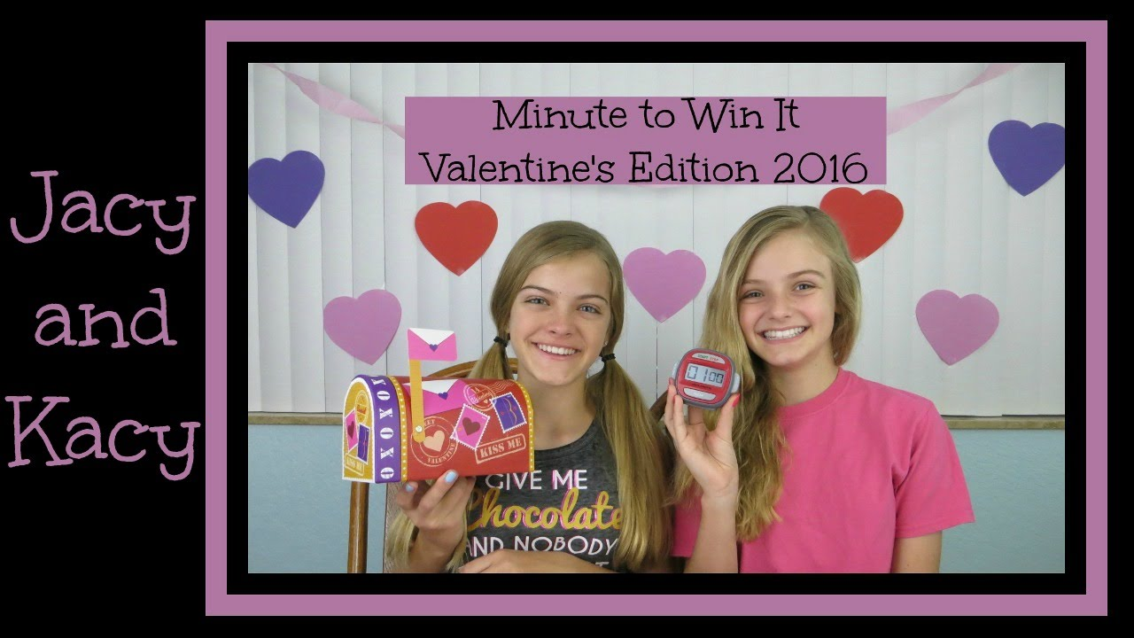 minute to win it challenge valentines day edition 2016 jacy and kacy youtube - Valentine Minute To Win It Games
