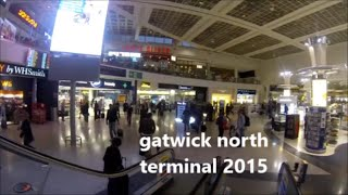 A WALK AT NIGHT  IN GATWICK AIRPORT NORTH TERMINAL LONDON