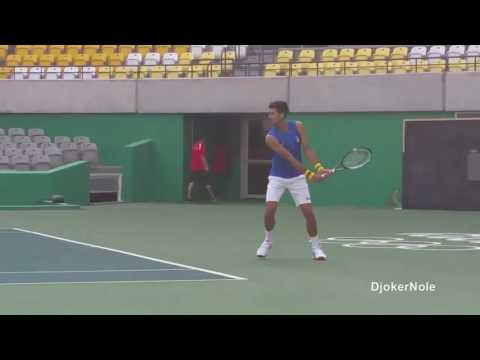 Novak Djokovic First Practice - Rio Olympic Games 2016