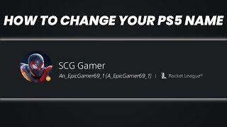 How to Change Y๐ur Username and Online ID on PS5! | SCG