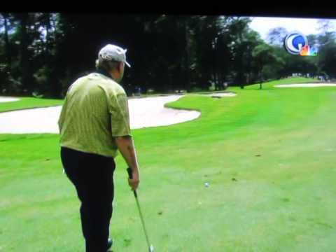 Jack Nicklaus at 72 years old. 7 iron shot.