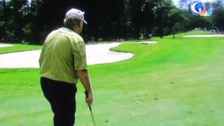 Jack Nicklaus at 72 years old. 7 iron shot.