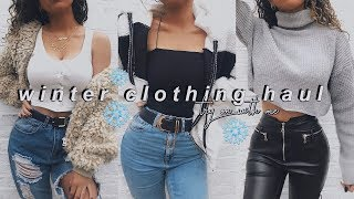 WINTER TRY ON CLOTHING HAUL - ASOS, MISSGUIDED, BOOHOO