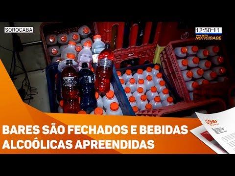 Bares são fechados e bebidas alcoólicas apreendidas em Sorocaba - TV SOROCABA/SBT