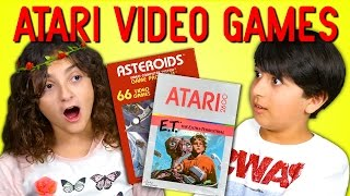 KIDS REACT TO ATARI 2600 VIDEO GAMES (E.T. and Asteroids)