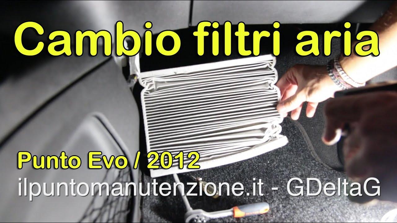 Cambio filtro aria e antipolline punto 2012 1 2 8v doovi for Filtro aria cabina passat 2012