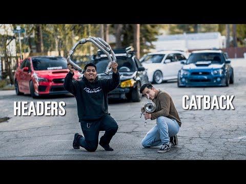 Subaru Gets A FULL Exhaust System! (Headers + Catback)