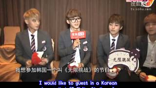 EXO M - 131018 SOHU Interview 搜狐專訪 (eng subbed)