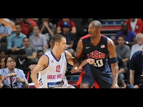 USA @ United Kingdom Great Britain 2012 London Olympics Men's Basketball Exhibition HD 720p