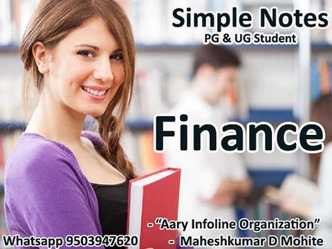 Financial Management  Syllabus Part 1