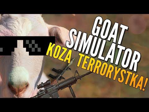 KOZA TERRORYSTKA! - GOAT SIMULATOR [Kopiowanie PewDiePie]