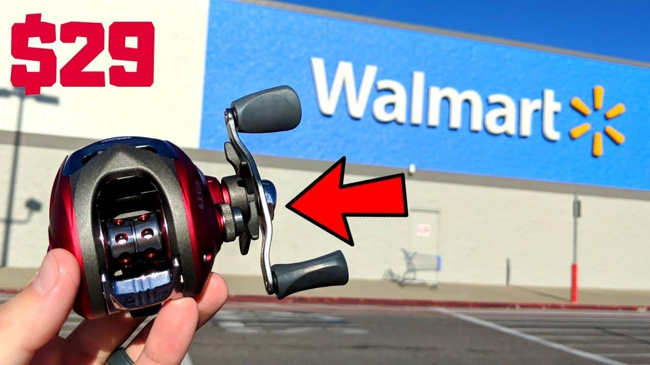 Fishing w/ CHEAPEST Fishing Reel in WALMART (How Good is it