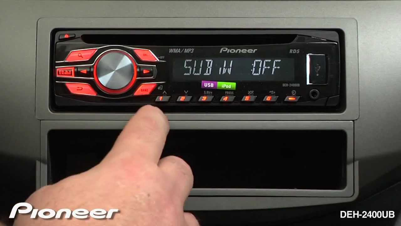 How To Deh 2400ub Subwoofer Settings Youtube Pioneer 2200ub Wiring Diagram