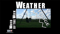 What is a meteorological ridge? | Weather Word of the Week