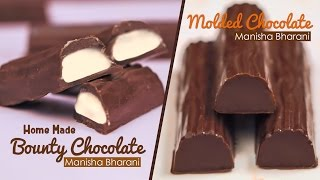 Homemade Bounty Chocolate | How To Make Bounty Bars - Molded Chocolate Tutorials