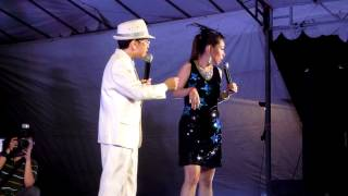 Xiao Wang Lei performing onstage at a getai