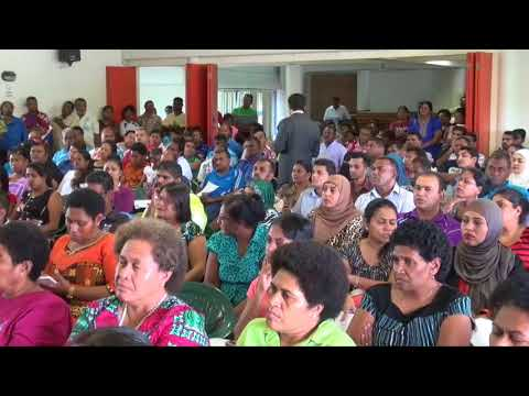 Fijian Attorney General holds job evaluation consultation with teachers in Lautoka.