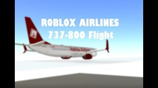 Roblox Airlines 737 800 Flight