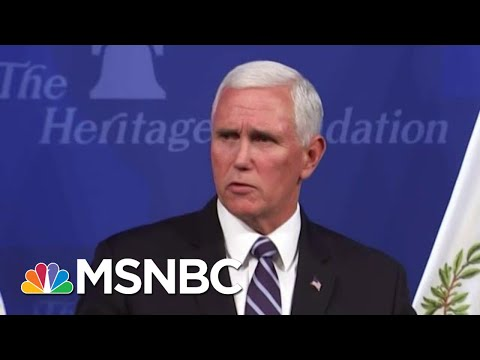 President Donald Trump's 'In Trouble': Bush Staffer On Pence Tossing Trump Under Bus   MSNBC