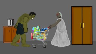Granny Goes Shopping Funny Animation Parody Drawing Cartoons 2 HD