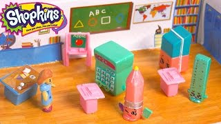 Special Edition Season 3 Shopkins Go Back To School - Teacher & Classroom Play Video Cookieswirlc