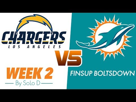 Week 2 Miami Vs LA  FinsUp BoltsDown- By SoLo D {Official Music Video}