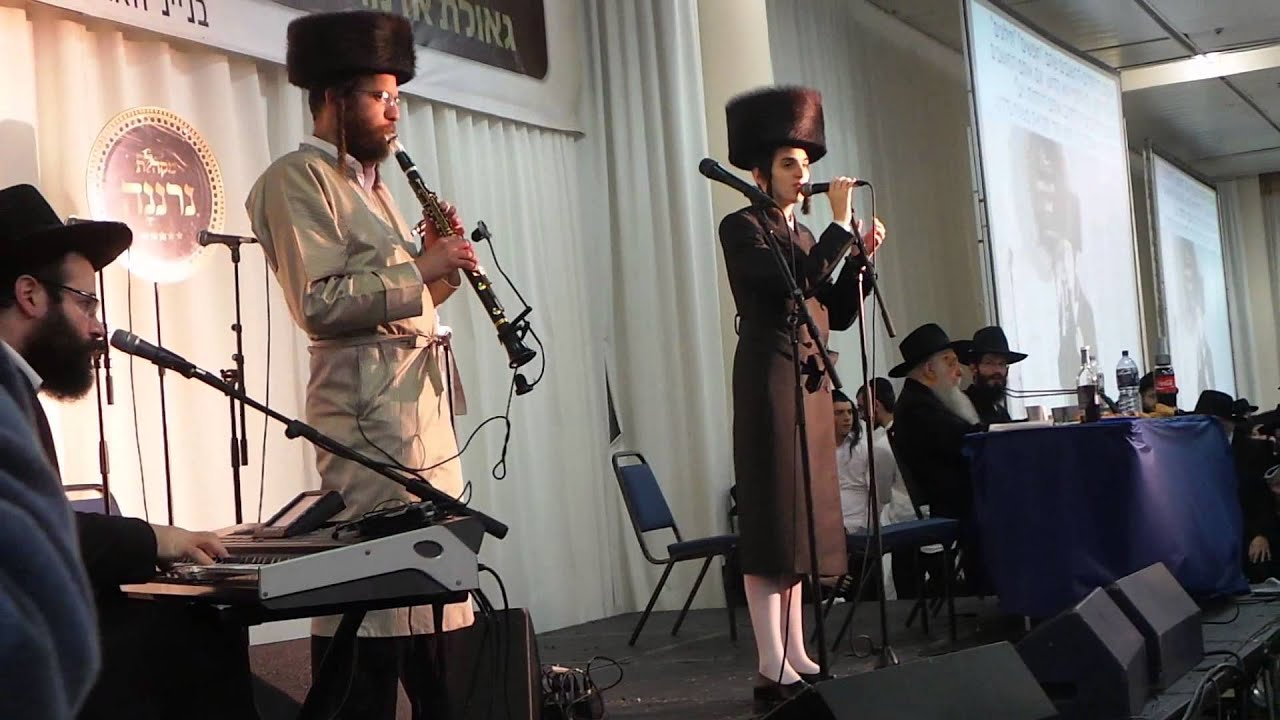 Motty Steinmetz & Chilik Frank at Chabad hisvaadוs 5775 Binyanei HaUma