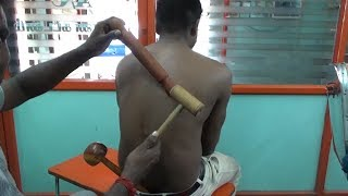 ''WEIRD ''RAJA MASTER Wooden Hammer BACK MASSAGE~ ASMR Relax & Sleep,,
