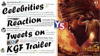 Celebrities Reaction Tweets on KGF Trailer | Yash | Prashanth Neel | Y5 Tv