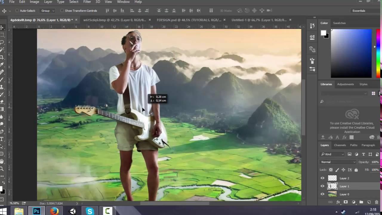 Cara Edit Foto KEREN Dengan Photoshop : Foto Edit Diatas ...