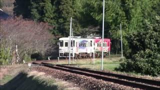 """明知鉄道バロー列車東野駅付近下り05/Nov/2016 Akechi Railroad """"Valor"""" train around Higashino Station"""