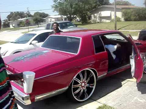 2 Door Box Chevy on 26S - Candy Pink Door Box Chevy On Rims - 2 Door Box Chevy on 26S