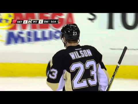 Wilson's first NHL goal   Penguins @ Red Wings