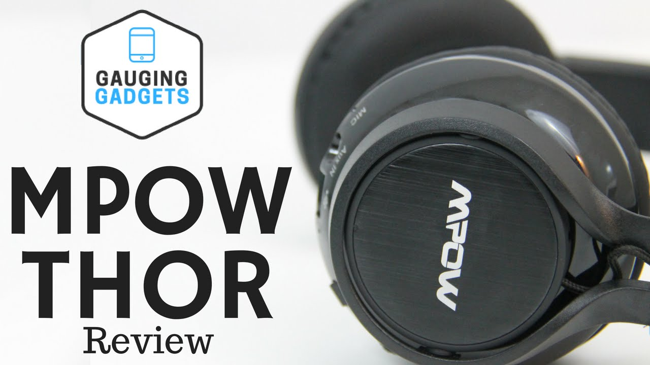 Mpow Thor Bluetooth Headphones Review Foldable Over Ear Headset Youtube