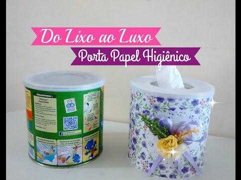 DO LIXO AO LUXO PORTA PAPEL HIGIÊNICO Carla Oliveira