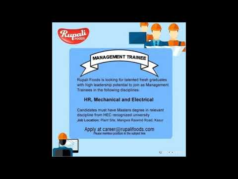 Fresh Graduate Required for Management Trainee