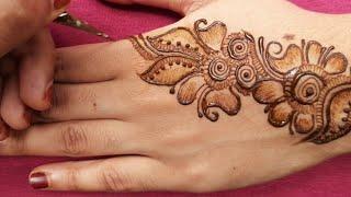 Easy mehndi designs for hands || back hand mehndi design easy || easy beautiful mehndi designs new