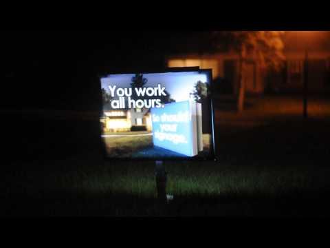 Short Video showing solar outdoor lightbox