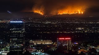 La Tuna Fire, Biggest Wildfire in Los Angeles History - Timelapse Short