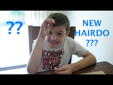 Mason gets a New Hairdo