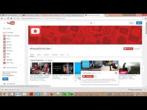 browse all channels in youtube