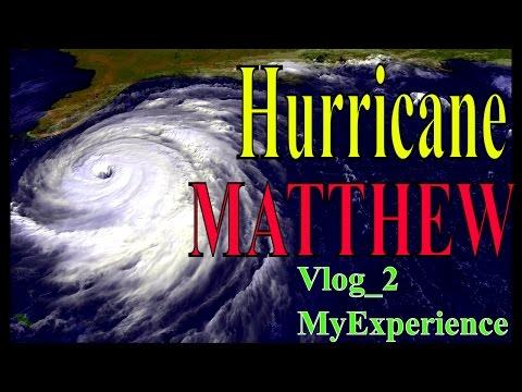 Hurricane Matthew Live  My Experience Vlog_2
