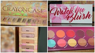 The Crayon Case Palettes: Watch Me Blush, The New Rule & AnGLOWla Highlighter Powder | Makeup Haul