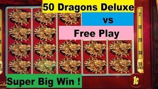 ★SUPER BIG WIN★50 DRAGONS DELUXE vs FREE PLAY★☆Live play & Bonus ☆$1.50~$3.00 MAX BET 栗スロット
